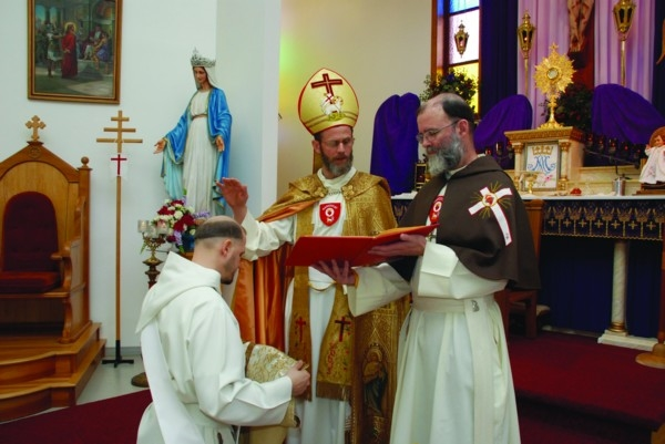 Ordination to the priesthood by Fr. Mathurin of the Mother of God, Priesterweihe durch Pater Mathurin von der Muttergottes