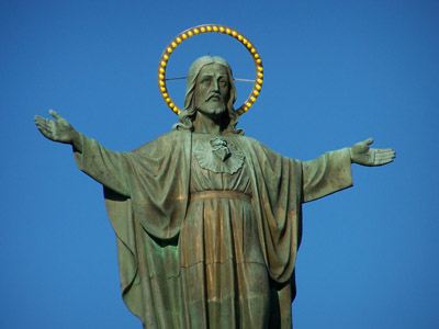 The largest statue of the Sacred Heart in Canada, Die größte Herz-Jesu-Statue in Kanada