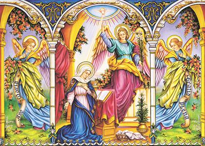 Annonciation de l'Archange Gabriel à la Vierge Marie