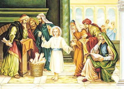 Le recouvrement de Jésus au Temple