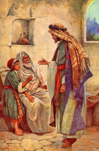 Jesus heals man with dropsy