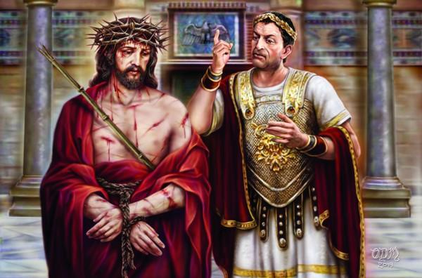 Jesus at the tribunal of Pilate