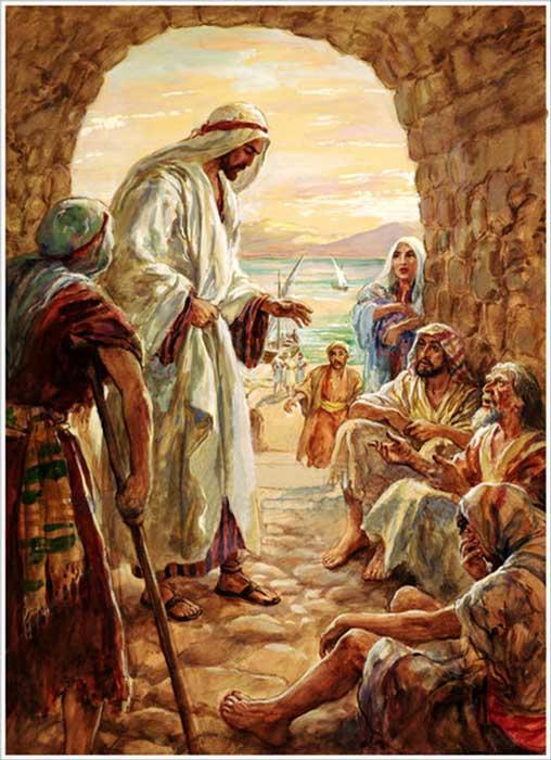 Jesús cura a un hombre paralítico