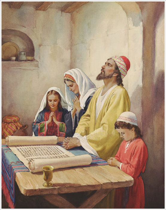 A Family in prayer