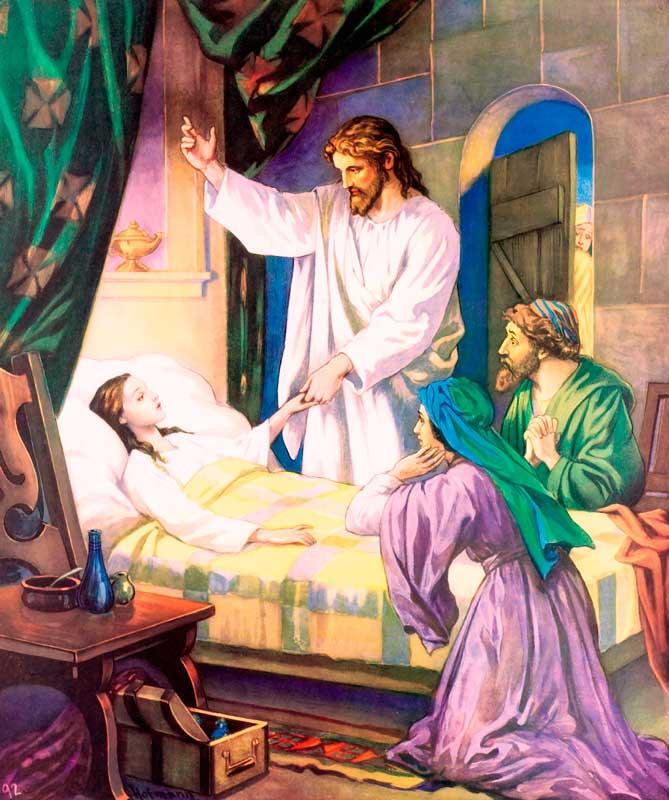 Jésus ressuscite la fille de Jaïre