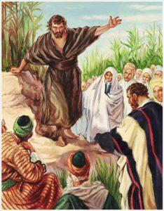 San Juan Bautista predica la penitencia