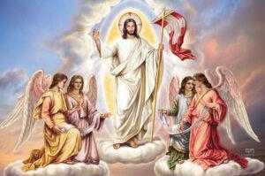 Jesus resurrects glorious