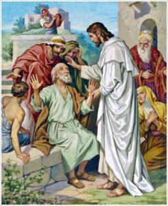 Jesús cura a un mudo