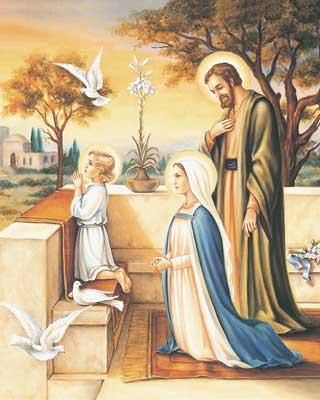 La Sagrada Familia en oración