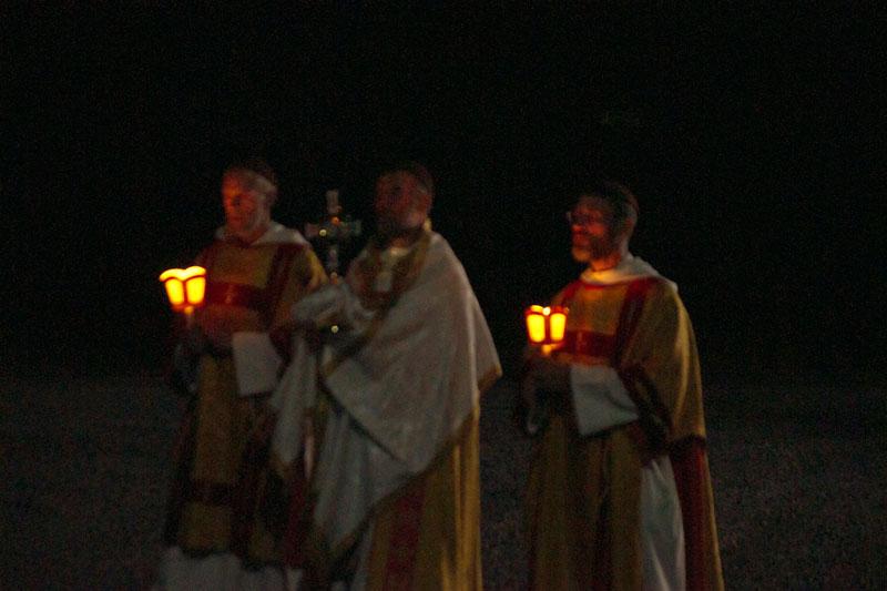 Procession aux flambeaux au Monastère du Magnificat de la Mère de Dieu