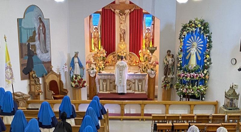 Messe solennelle le 19 septembre 2021 dans la Chapelle de Jésus-Crucifié au Monastère du Magnificat de la Mère de Dieu