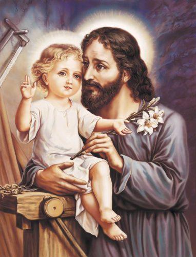 San Giuseppe, padre adottivo del Bambino Gesù, custode e protettore della Vergine Maria.