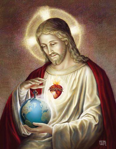 Le Coeur de Jésus guérit le monde