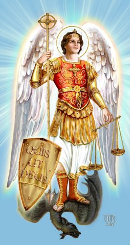 Saint Michael the Archangel, defend us in battle.